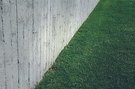 Grass Lawn with Concrete Wall
