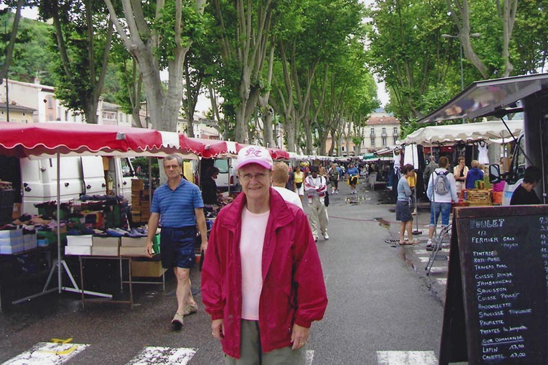 Dr. Carl traveling in France.