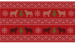 Illustration of dog wrapping paper
