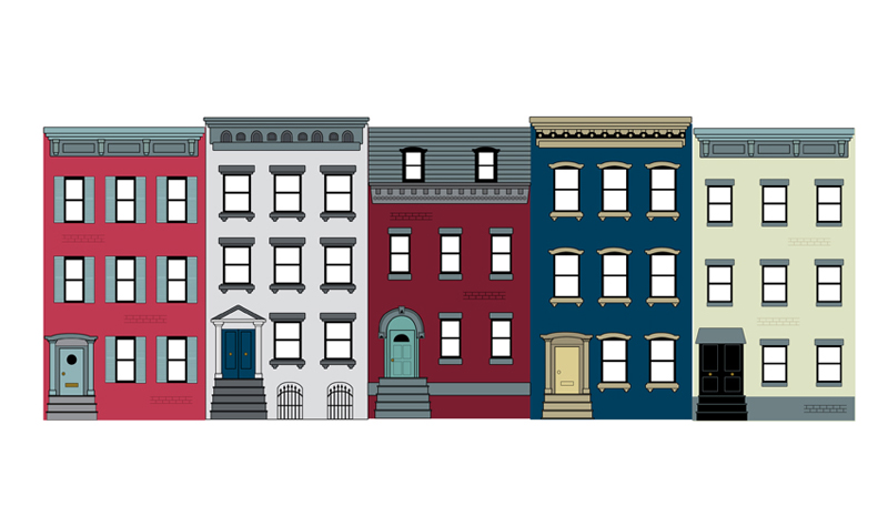 Illustration Brownstones