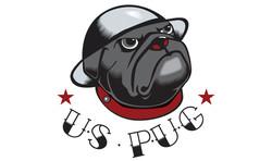 """Illustration Military Pug """"tattoo"""""""