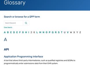 QPP Glossary