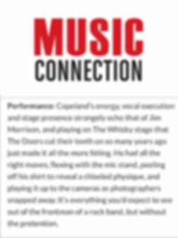MUSIC CONNECTION BRETT COPELAND