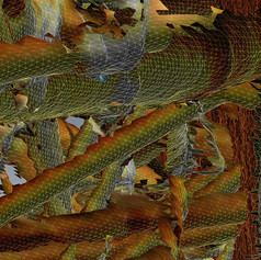 """Detail 2D image from 3D triangulated scan of The Ark 6"""" x 6"""" 2016"""