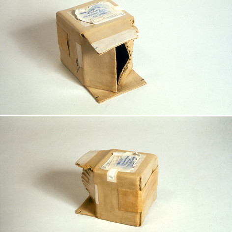 Clay Box with Peeled Label