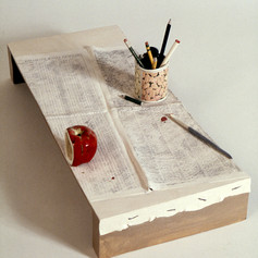 Studio Table with Pistachio Can