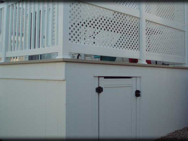 Storage, Lattice and Railing