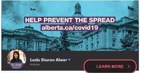 Leela Sharon Aheer's April 2020 Message