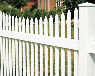 Narrow Scalloped Picket Fence