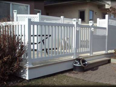 Railing with Gate and Privacy Wall