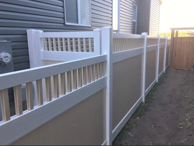 Tan and White Classic Privacy