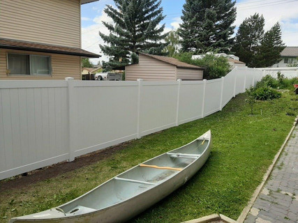 6 ft White Privacy