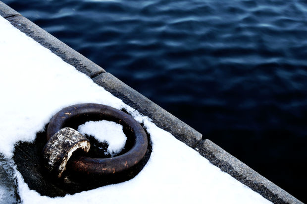 Snow and sea