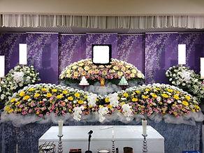 一般葬スタンダードプラン 祭壇写真