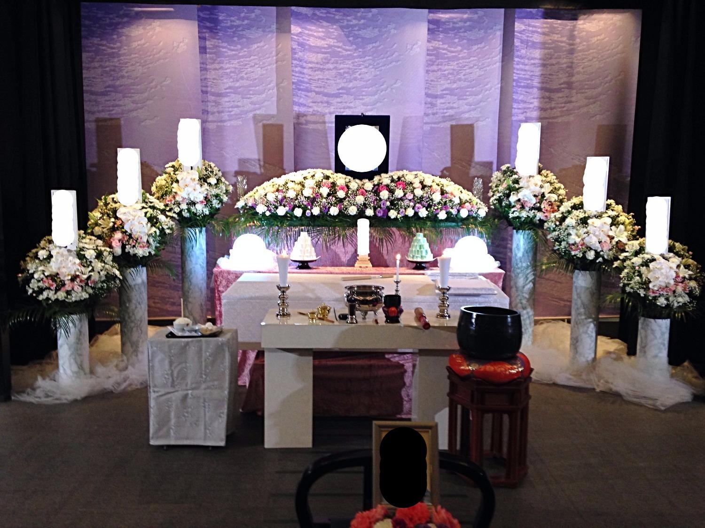生花祭壇 2m×1段飾り①