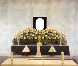 生花祭壇 2m×1段飾り⑤