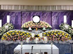 生花祭壇 2,7m×2段飾り①