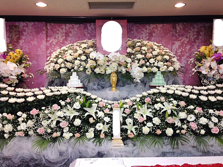 生花祭壇 2,7m×2段飾り②