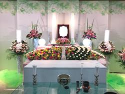 生花祭壇 2,4m×2段飾り①