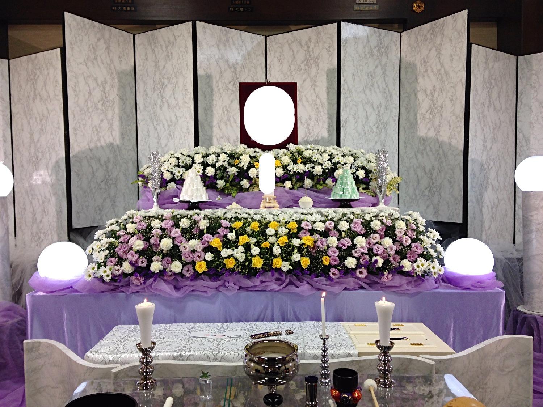 生花祭壇 2,4m×2段飾り②