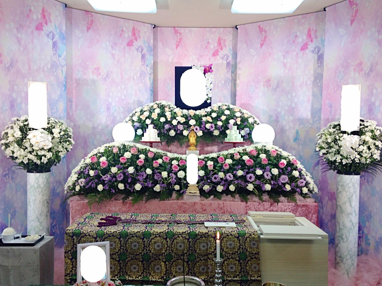 生花祭壇 2,4m×2段飾り④