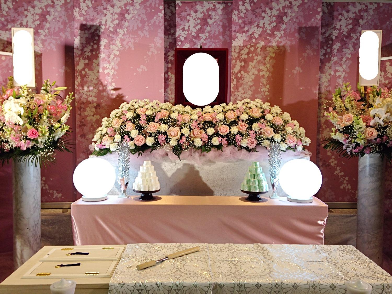 生花祭壇 2m×1段飾り④