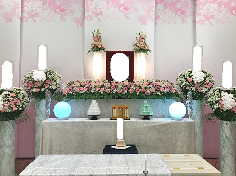 生花祭壇 2m×1段飾り②