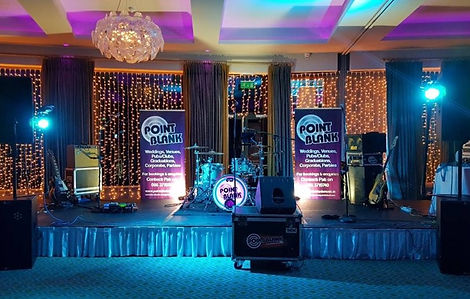 Point Blank Wedding Band Wexfod stage setup