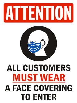 Attention mask yard sign 24x18