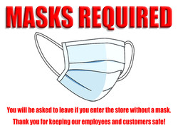 MASKS REQUIRED 18x24 Yard sign