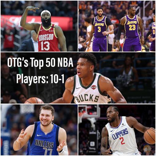 The Top 50 NBA Players 2019-2020 V.1: 10-1