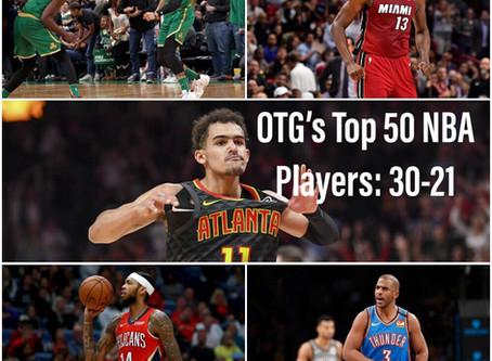 The Top 50 NBA Players 2019-2020 V.1: 30-21
