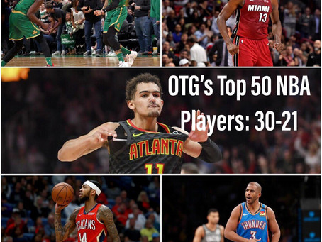 The Top 50 NBA Players 2019-2020 V.1: 30-21