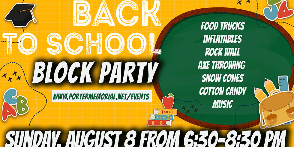 Back to School Party 2021