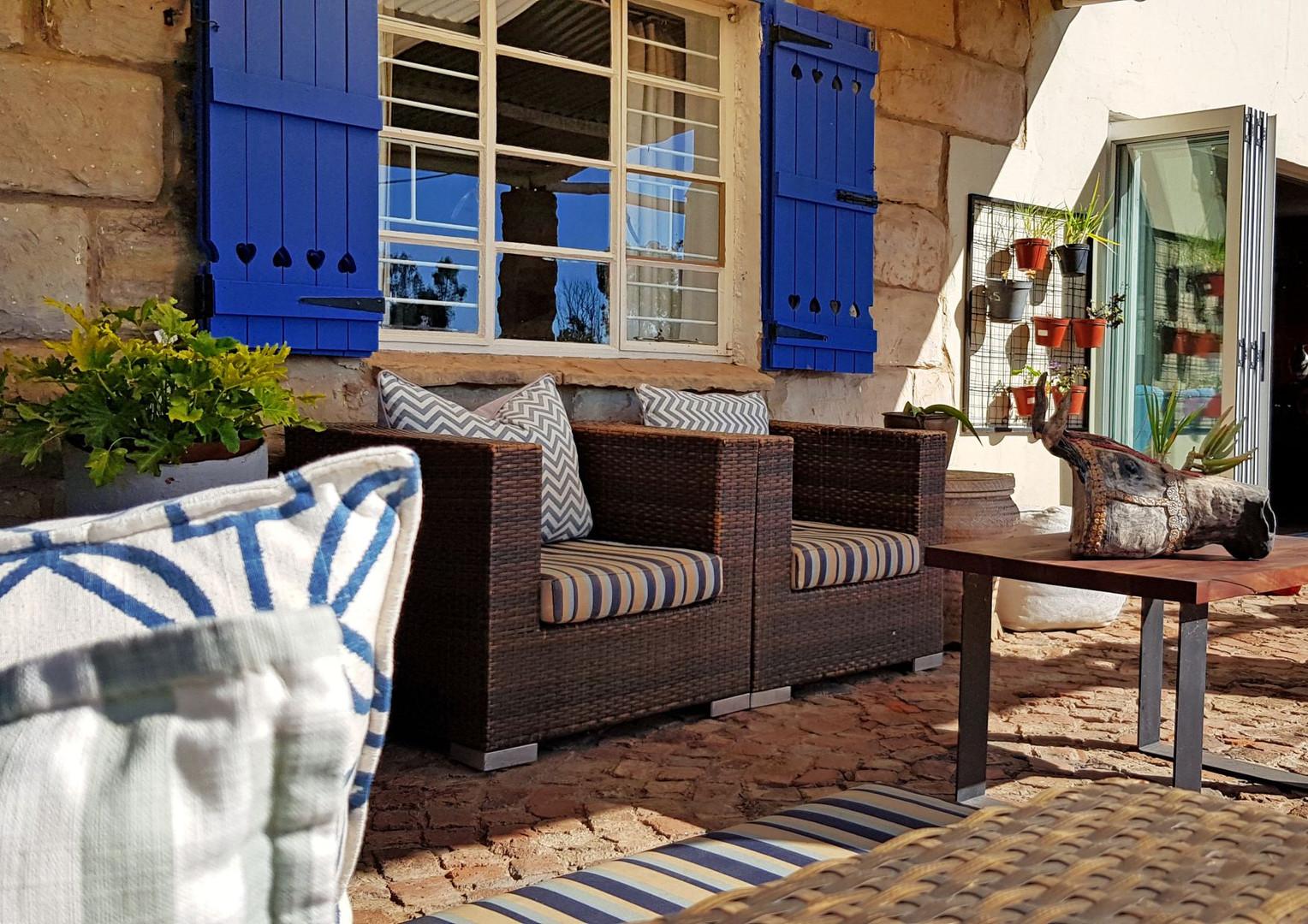Weekend home veranda