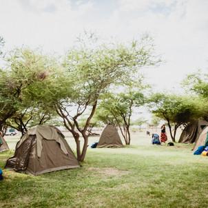 Camping in Tanzania, at the Maasai Giraffe Eco Lodge