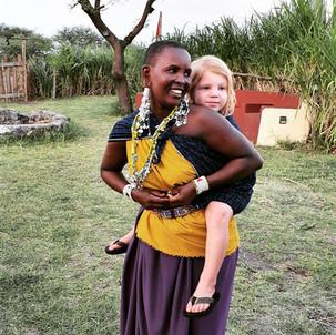 Massai community at the Maasai Giraffe Eco Lodge in Tanzania