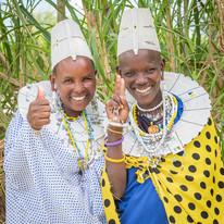 Massai Community at the Maasai Giraffe Eco Lodge, Lake Natron, Tanzania