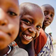Massai kids at the Maasai Giraffe Eco Lodge