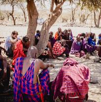 14905929770008Famille maasai rencontre, eco tourisme, Lac Natron, Tanzanie