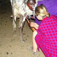 Native Maasai activity at Maasai Giraffe Eco Lodge near Lake Natron in Tanzania