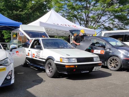 AE86ラリーチャレンジ、遂に2位表彰台獲得です!