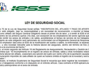 Recordatorio -Aplicación Artículo 73 de la Ley de Seguridad Social