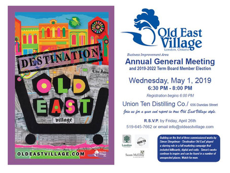 Old East Village AGM - May 1st!