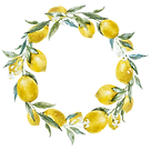 Decorative flower and leomons image