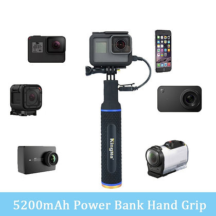 Power Bank Hand Grip Battery for BeHD Rival camera