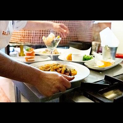 Amici chef serving great tasting Italian food