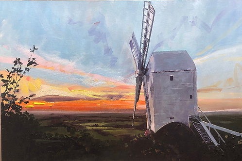 'Windmill on South Downs' on Mirror and Card Holder style