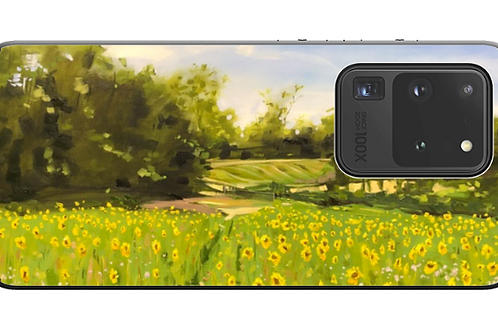 'Across The Sunflower Field' Mirror and Card Holder style phone case