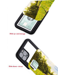 Phone Case with mirror and card holder